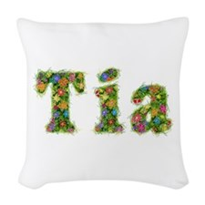 Tia Floral Woven Throw Pillow