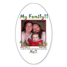 Family ID, Safety Sample Oval Decal