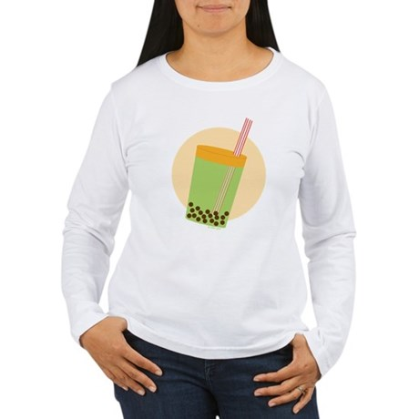 Bubble Tea Cup Women's Long Sleeve T-Shirt