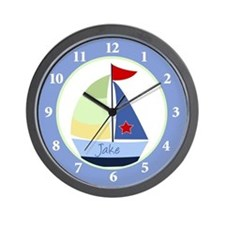 Jake Sailboat Nautical Wall Clock Wall Clock
