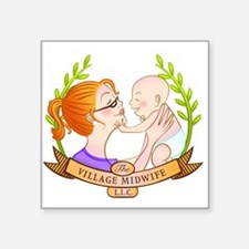 The Village Midwife Logo! Sticker