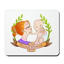 The Village Midwife Logo! Mousepad