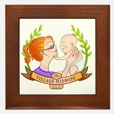 The Village Midwife Logo! Framed Tile