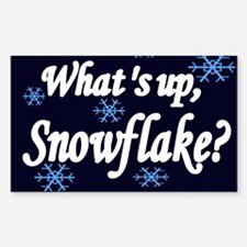 What's Up Snowflake Rectangle Decal