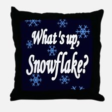What's Up Snowflake Throw Pillow