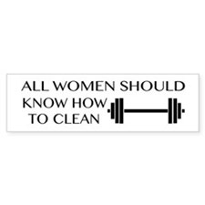 clean Bumper Bumper Sticker