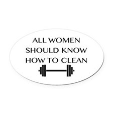 clean Oval Car Magnet