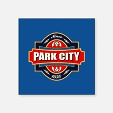 "Park City Old Label Square Sticker 3"" x 3"""