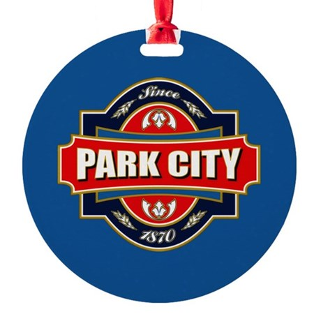 Park City Old Label Round Ornament