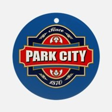 Park City Old Label Ornament (Round)