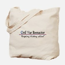 Civil War Reenactor Tote Bag