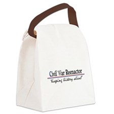 Civil War Reenactor Canvas Lunch Bag