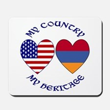 Armenia / USA Country Heritage Mousepad