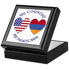 Armenia / USA Country Heritage Keepsake Box