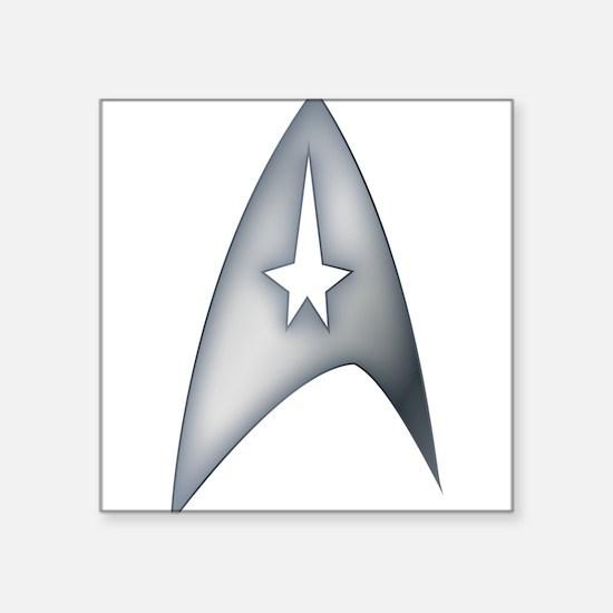 Gray Metallic Star Trek Logo Design Sticker
