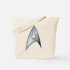 Gray Metallic Star Trek Logo Design Tote Bag