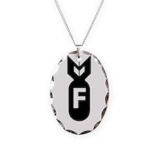 F Bomb, F-Bomb Necklace Oval Charm