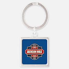 Jackson Hole Old Label Square Keychain