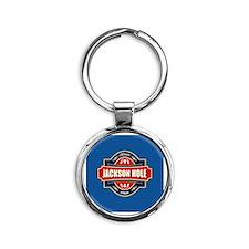 Jackson Hole Old Label Round Keychain