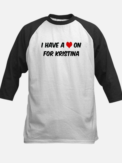 Heart on for Kristina Kids Baseball Jersey