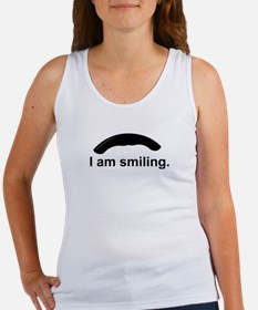 I am smiling. Tank Top