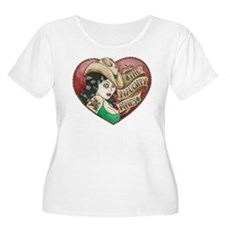 Naughty Pines Derby Dames Logo Plus Size T-Shirt