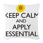 Keep Calm and Apply Essential Woven Throw Pillow