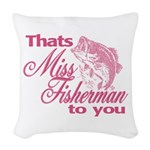 Miss Fisherman Woven Throw Pillow