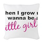 littlegirl.png Woven Throw Pillow