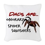 Spider Squishers Woven Throw Pillow