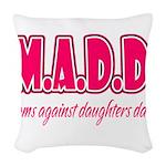 M.A.D.D. Woven Throw Pillow