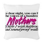 100mothers.png Woven Throw Pillow