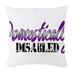 Domestically Disabled Woven Throw Pillow