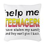 Stolen Sanity Woven Throw Pillow