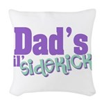 Dad's Lil' Sidekick Woven Throw Pillow