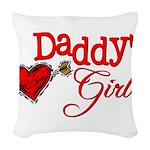 Daddy's Girl Woven Throw Pillow