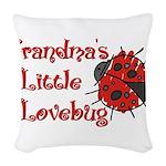 grandpalovebug.png Woven Throw Pillow