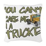 No Fear Trucker Woven Throw Pillow
