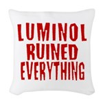 luminol3.png Woven Throw Pillow