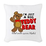Big Teddy Bear Woven Throw Pillow