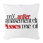 Anger Management Class Woven Throw Pillow