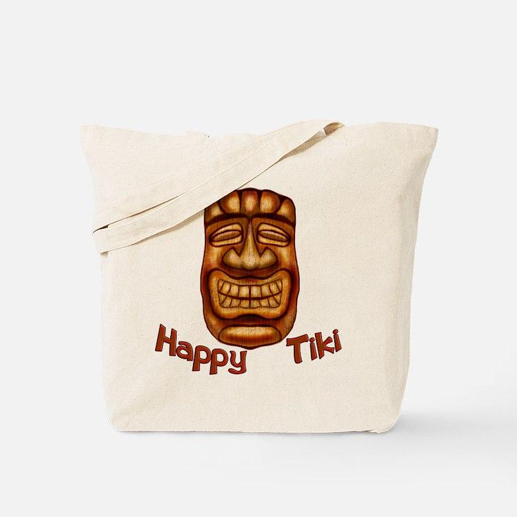 Happy Tiki Tote Bag