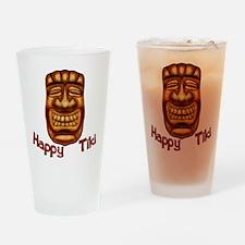Happy Tiki Drinking Glass