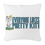 Pretty Kitty Woven Throw Pillow