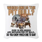 Find the Pit Bull Woven Throw Pillow