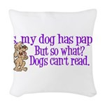 dogsread.png Woven Throw Pillow