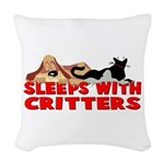 critters.png Woven Throw Pillow