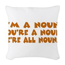 nouns.png Woven Throw Pillow