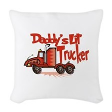 Daddys Lil' Trucker Woven Throw Pillow