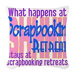 Scrapbooking Retreats Shhh! Woven Throw Pillow